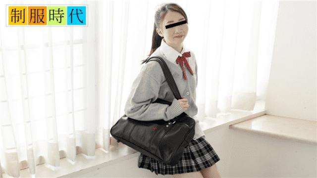 10Musume 051018_01 Kanako Hishi Uniforms Masturbating with uniforms for the first time - Japanese AV Porn