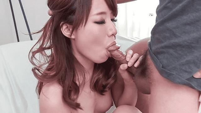 AV Videos JavHD Runa Mizuki Bokep Jepang Back yard porn with a giant dildo for