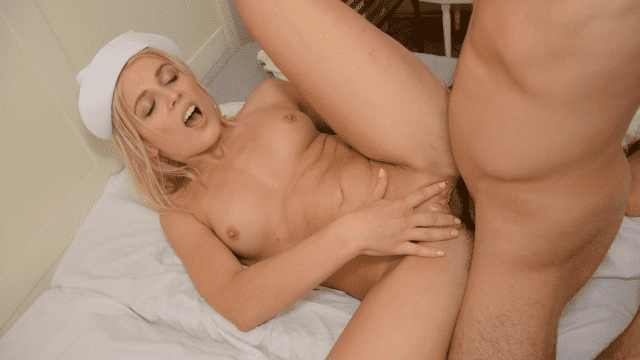 HEYZO 0595 Sweet A blond nurse's dirty therapy Patsukin Channel Z Vol.7 - Japanese AV Porn