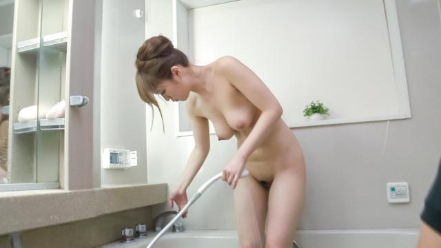 Nasty Japanese blowjob in the shower withEri Hosaka - Japanese AV Porn
