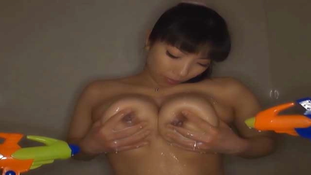 Sankihon Nozomi, naughty mature Asian babe with big tits enjoys a sexy shower - Japanese AV Porn