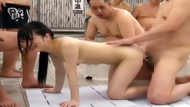 Babe gets her sexy body splashed with jizz - Japanese AV Porn