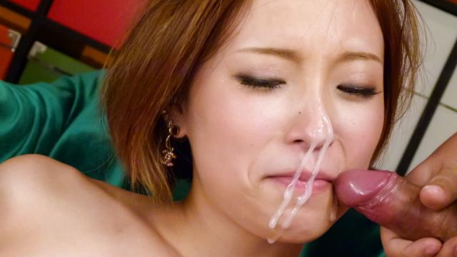 AV Videos Ena Ouka gives a japanese blowjob to two after masturbating