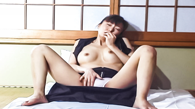 Horny Asian milf, Maria Yuuki caught in the act going solo - Japanese AV Porn