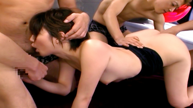 Makoto Yuuki naughty Asian babe in hot gangbang action - Japanese AV Porn