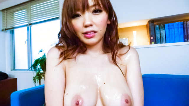 Megu Kamijo gets asian cumshots on her big boobs - Japanese AV Porn