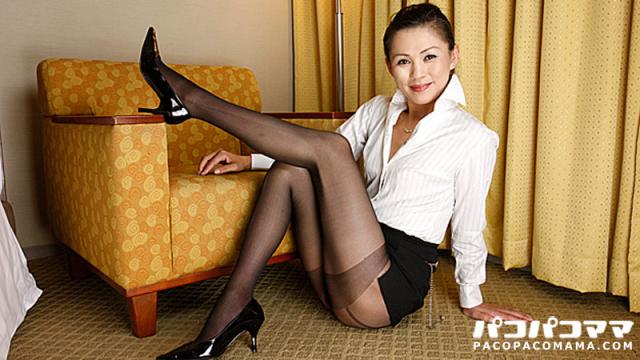 Pacopacomama Akasaka Elena - Nasty woman of black pantyhose - Japanese AV Porn
