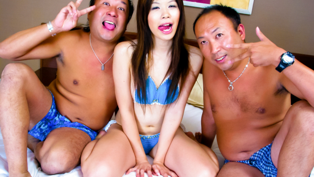 Rough and hardcore foursome action with Rui Aikawa - Japanese AV Porn