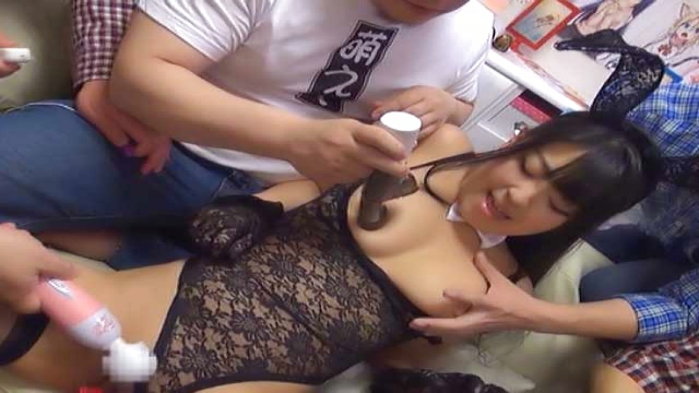 Satou Airi featured in a kinky group action - Japanese AV Porn