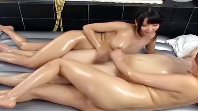 Sweet beauties sharing cock in pleasant POV modes - Japanese AV Porn