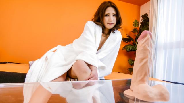 Tsubasa Aihara puts dildo in hairy crack - Japanese AV Porn